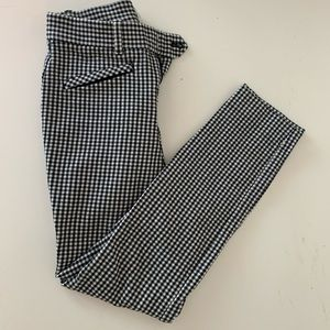 gap skinny ankle gingham cropped pants